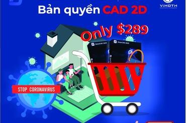 Bản quyền phần mềm CAD 2D vĩnh viễn giá chỉ $289