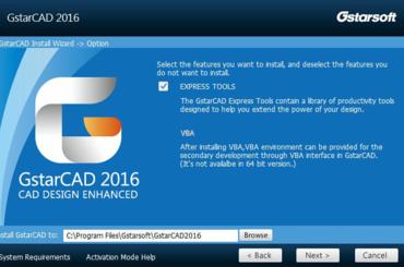 GstarCAD 2016- tăng tốc độ hiệu suất thêm 20%