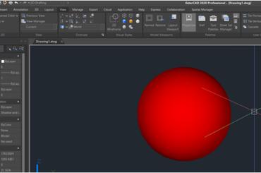 Hướng dẫn vẽ khối cầu trong GstarCAD