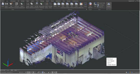 Point Cloud trong GstarCAD 2021